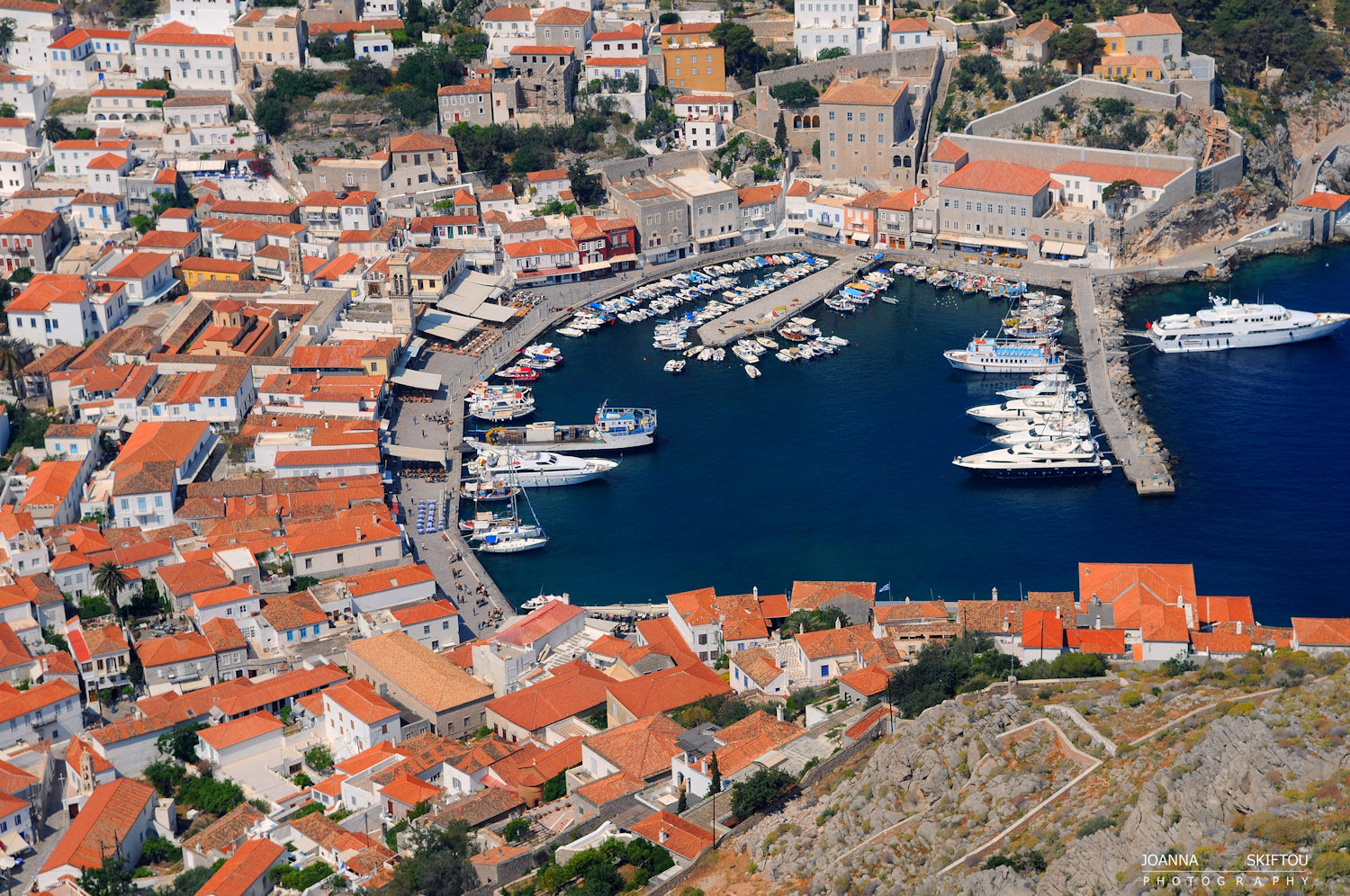 Aerial  photography by Joanna Skiftou, Hydra, Greece