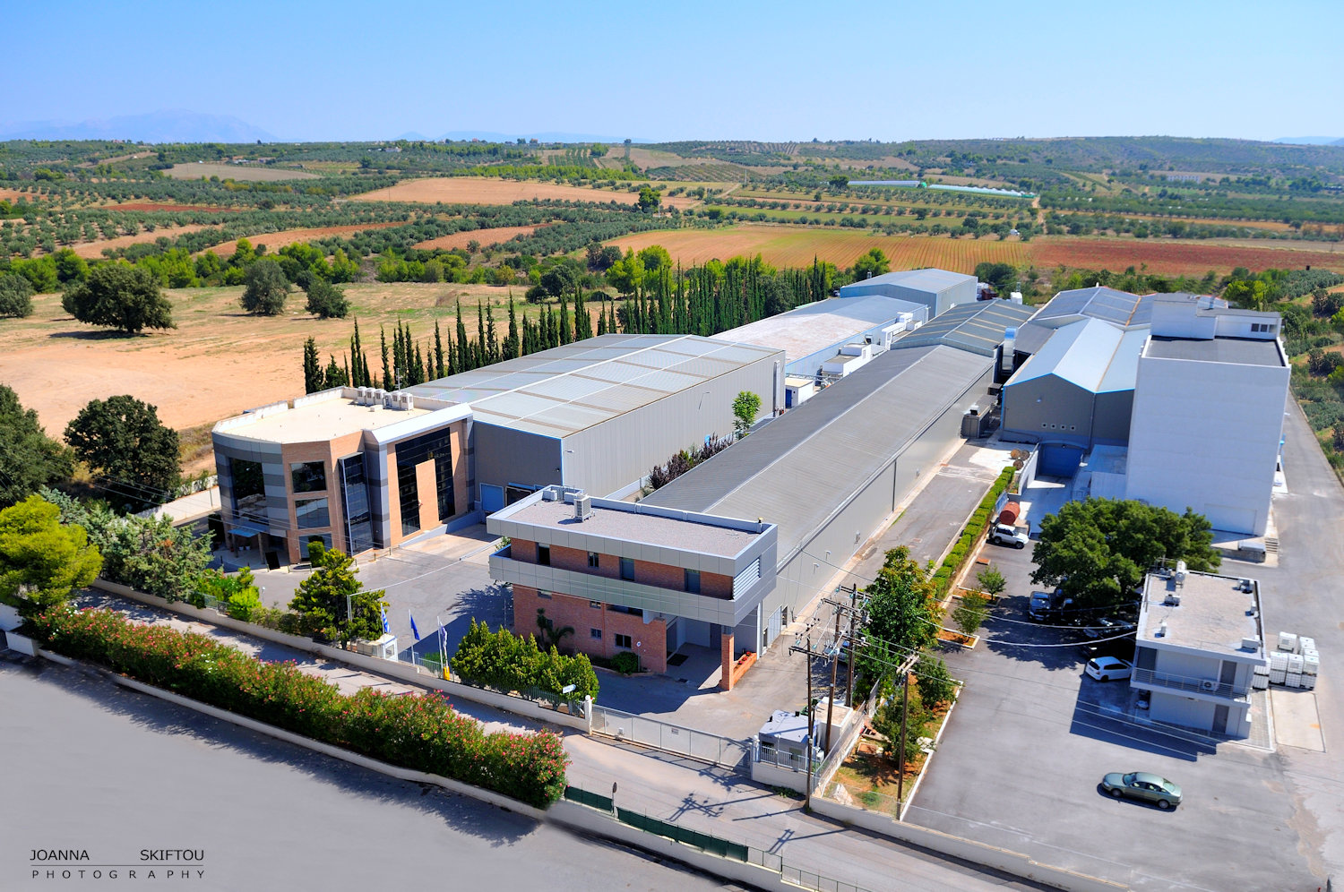 Aerial photography by Joanna Skiftou, Septona industrial site.