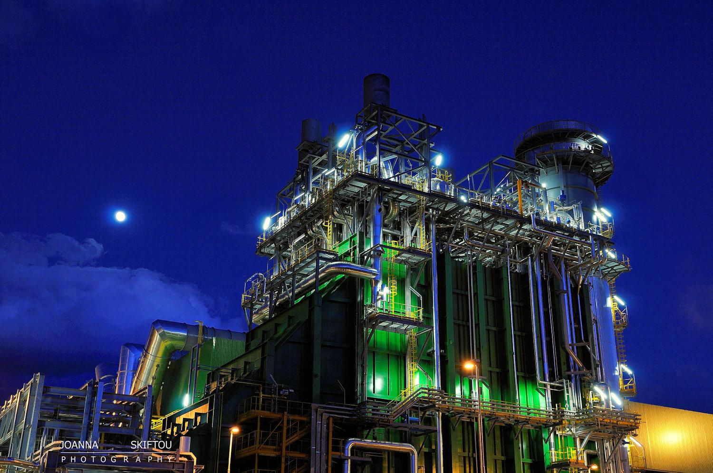 Βιομηχανική φωτογράφηση του εργοστασίου Elpedison από την φωτογράφο Ιωάννα Σκυφτού